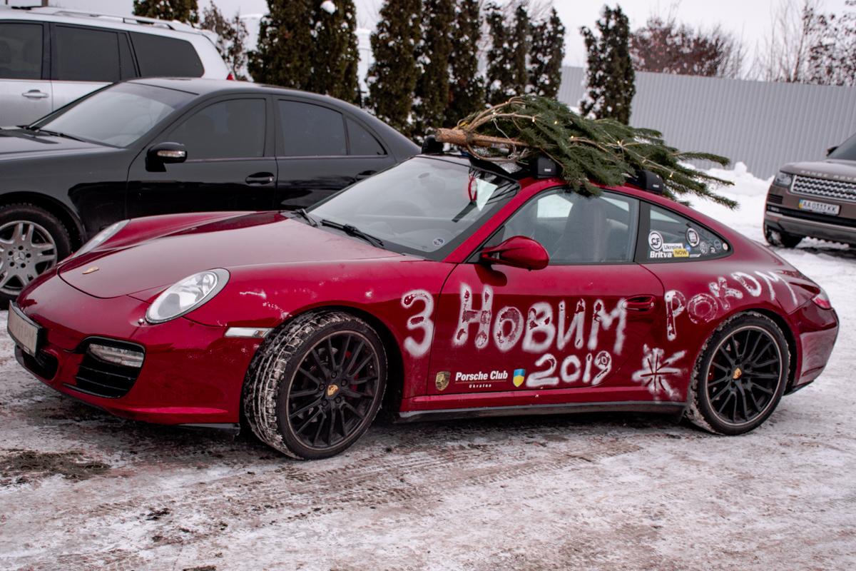 Новогодний Porsche