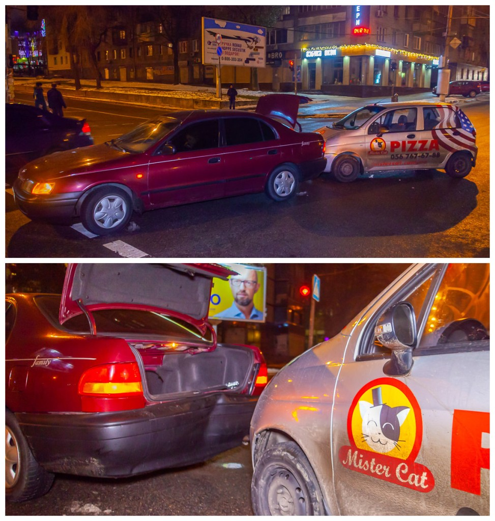 На проспекте Поля столкнулись два автомобиля