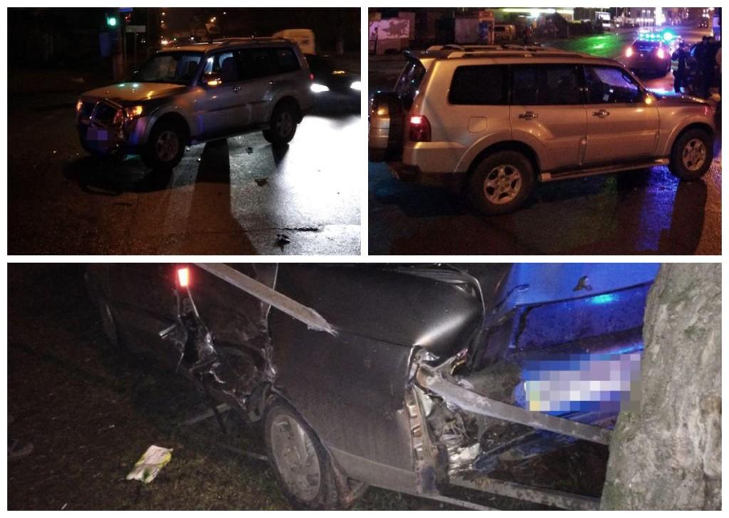 Автомобиль ВАЗ столкнулся с внедорожником Mitsubish