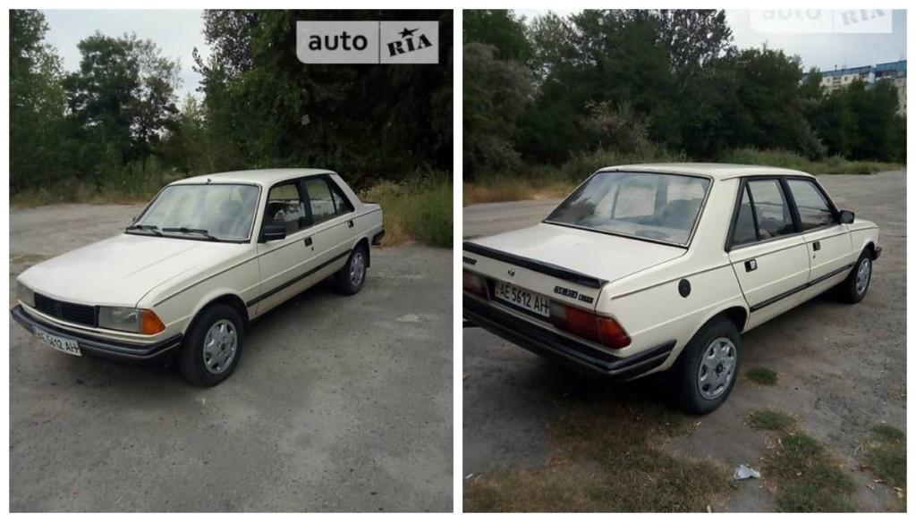 Автомобиль 1986 года выпуска