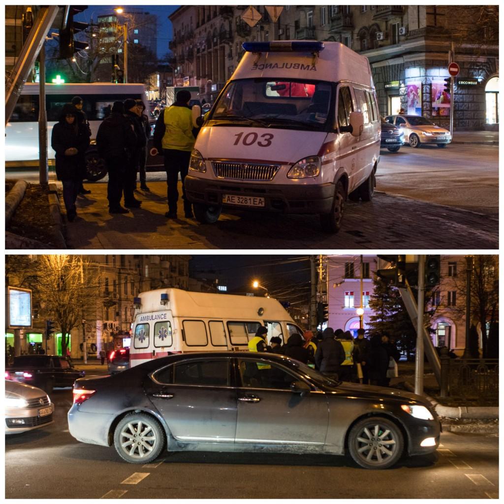 На проспекте Яворницкого Lexus сбил мужчину