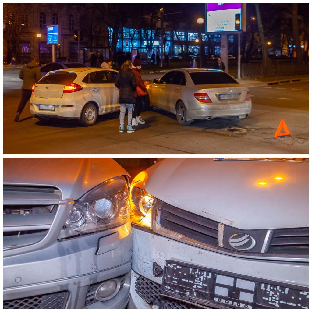 Автомобили получили незначительные повреждения