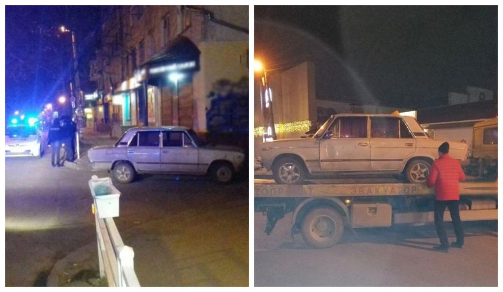 Пьяный водитель пытался убежать от полиции
