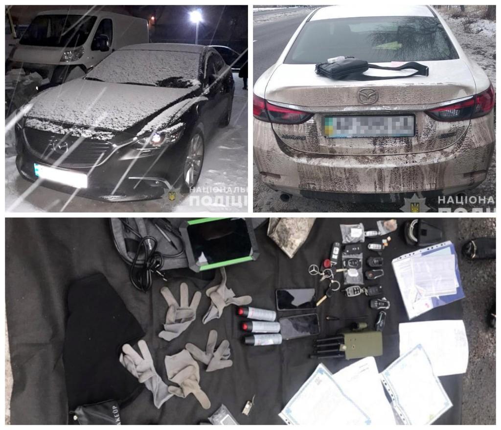 Полицейские обнаружили три угнанных авто марки Mazda 6
