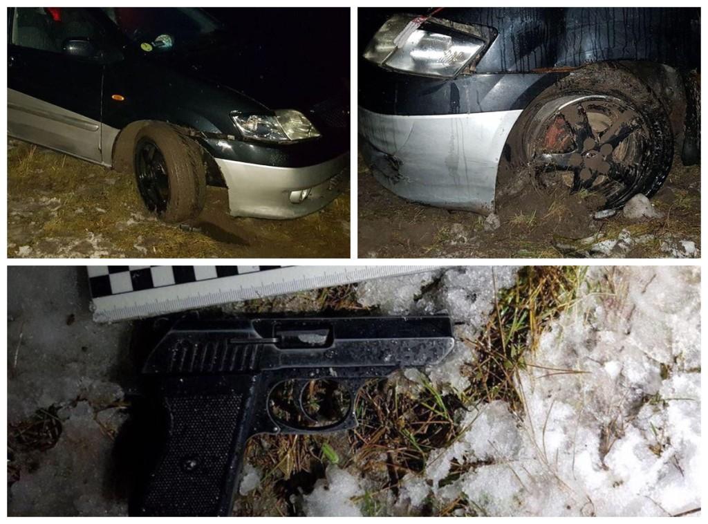 Пьяный водитель был вооружен и спровоцировал ДТП