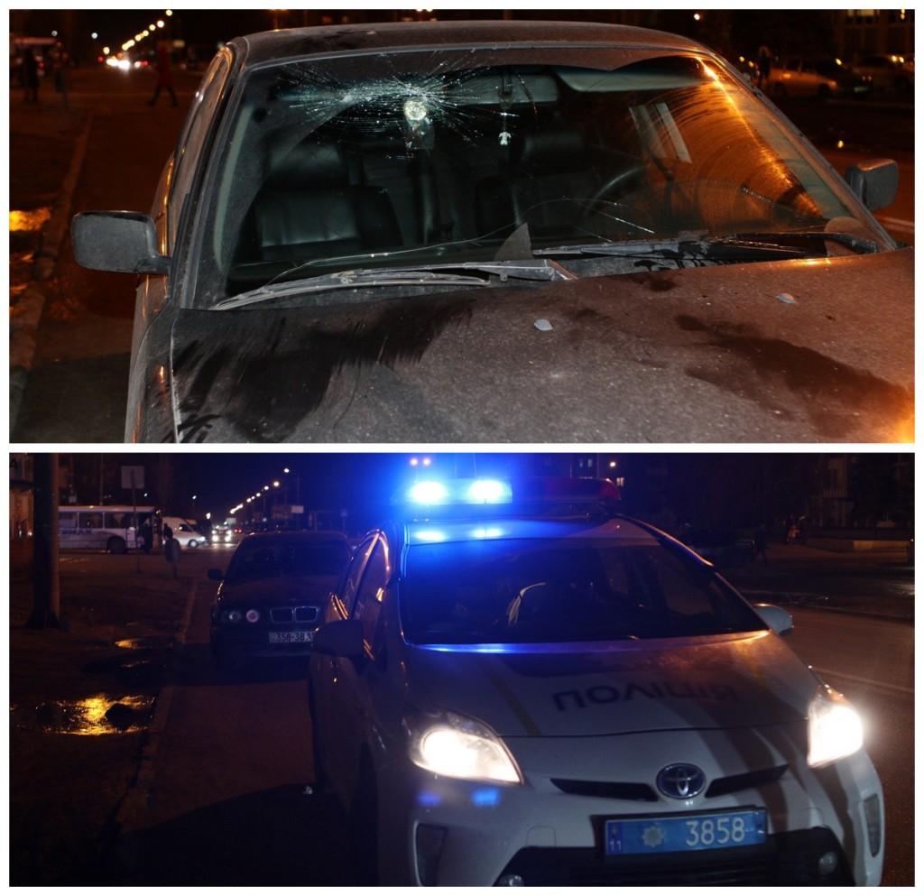 На проспекте Калнышевского BMW сбил женщину