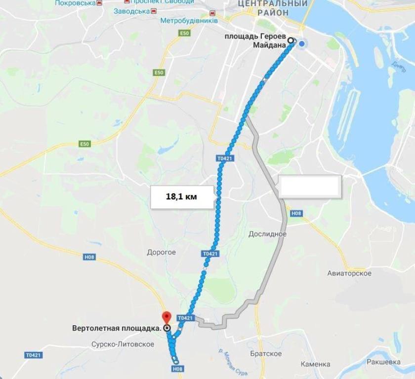Карта проезда на тренировочную площадку