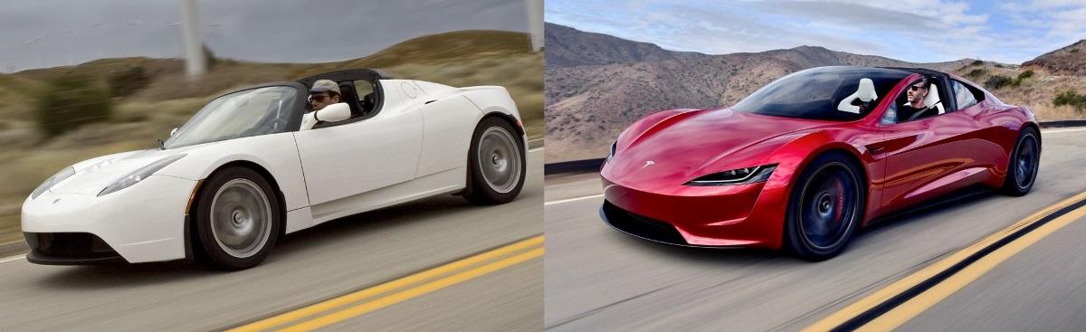 Tesla Roadster 2009 vs 2019
