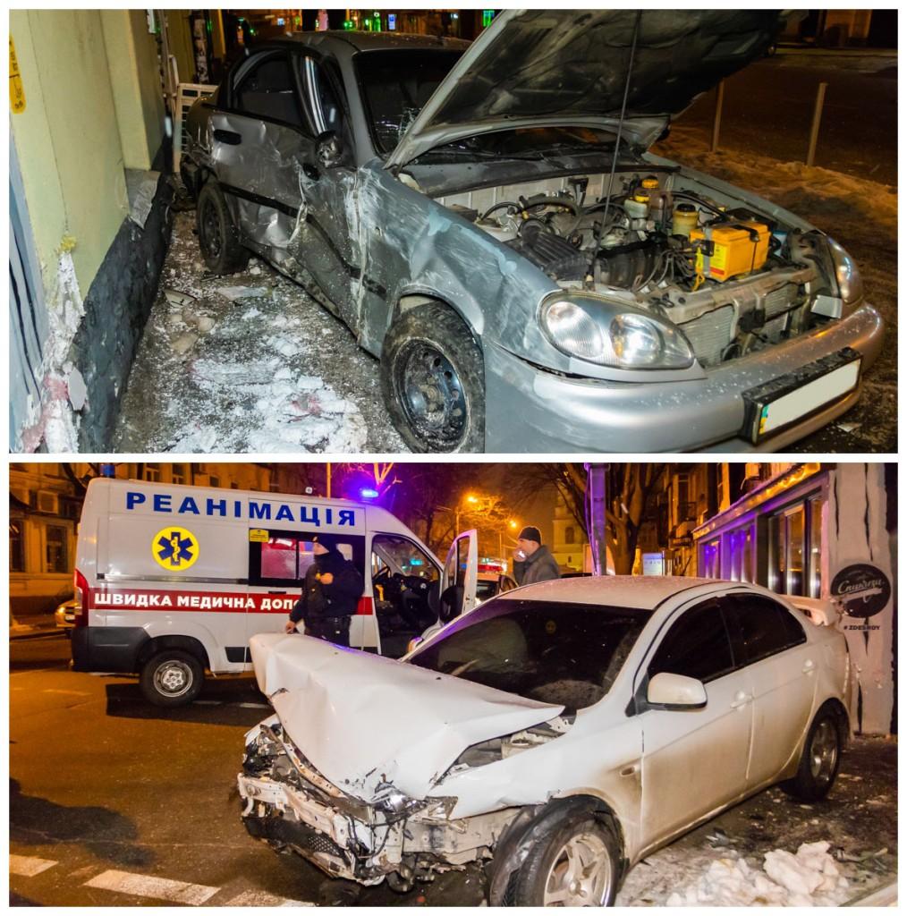 В результате столкновения пострадал водитель Daewoo