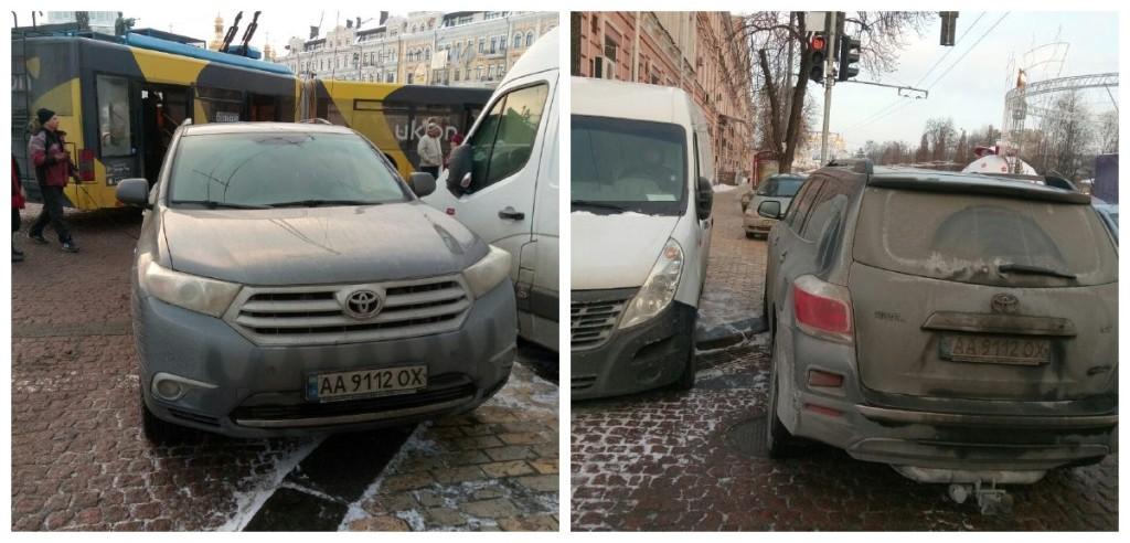 Припарковался и заблокировал движение троллейбусов
