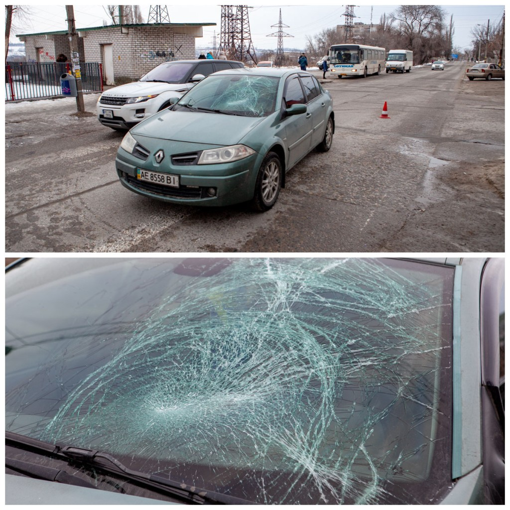 Renault сбил мужчину, который переходил дорогу по пешеходному переходу