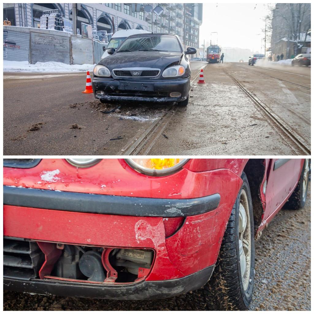 В результате столкновения пострадали два пассажира ЗАЗа