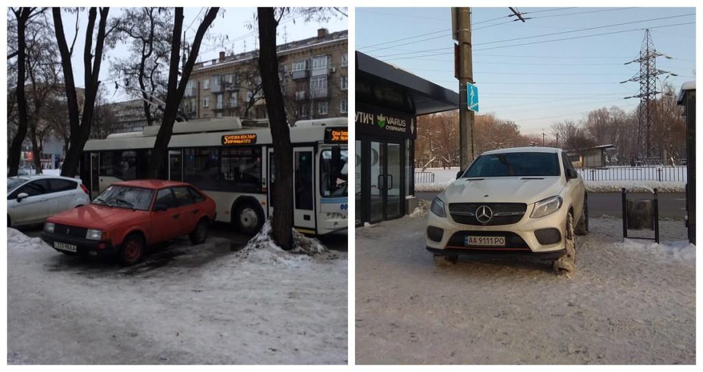 Парковка на остановке общественного транспорта