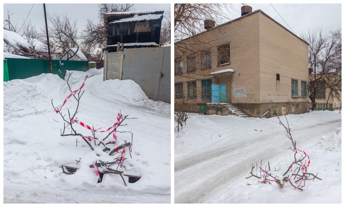Улица Галицкая между домами 52 и 54 (возле школ 91 и 93)