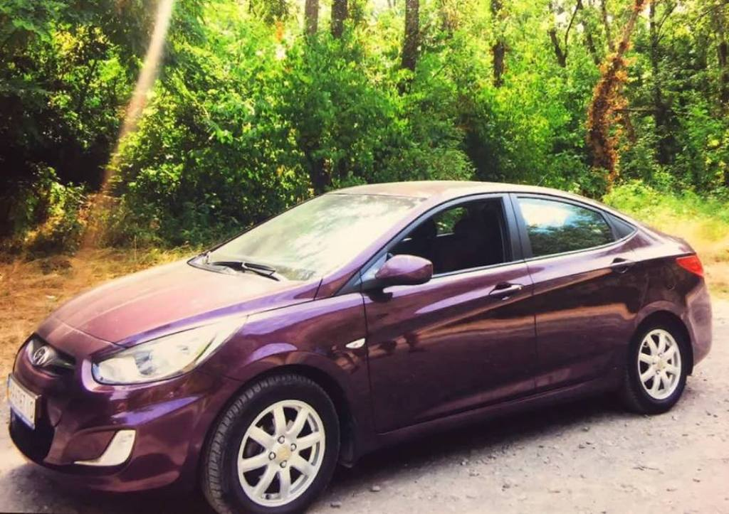 Угнанная Hyundai Accent