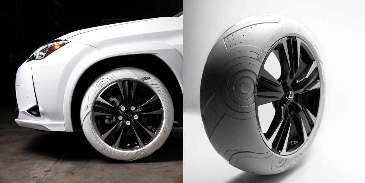 Lexus UX с шинами Nike
