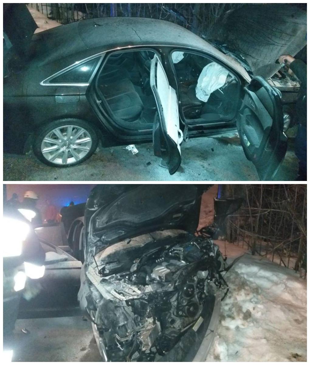 Пьяный водитель въехал в забор - пострадала девушка