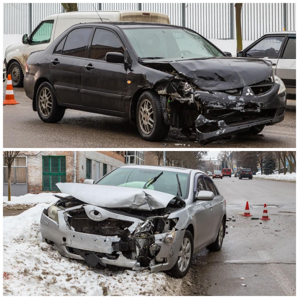 В результате столкновения пострадал виновник аварии