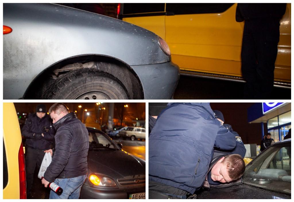 Нетрезвый водитель Renault столкнулся с Daewoo