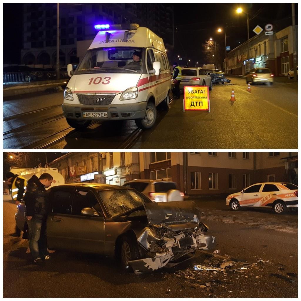 В результате столкновения травмы получили водитель и пассажиры Mazda
