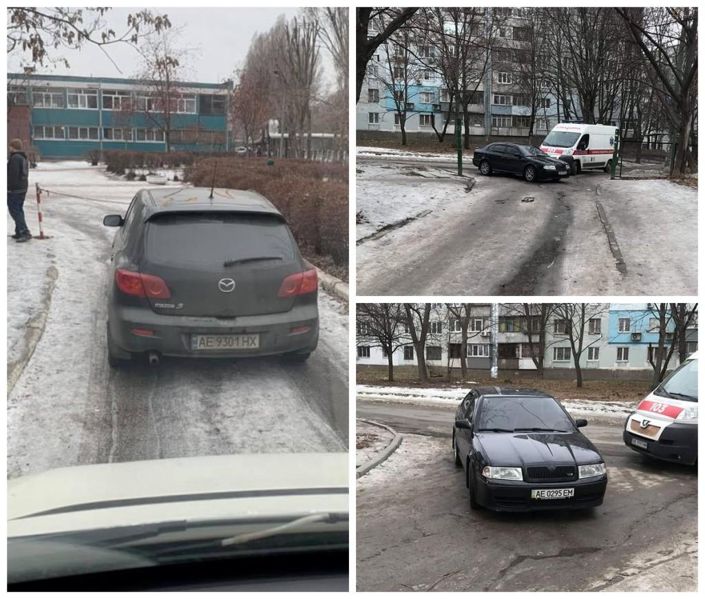 Парковка на въезде в учебное учреждение