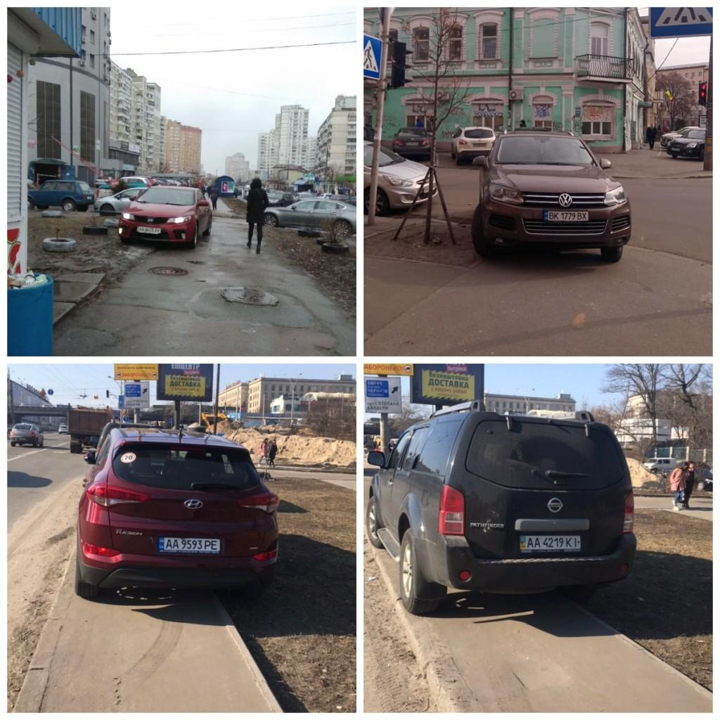 Киевские нарушители ПДД