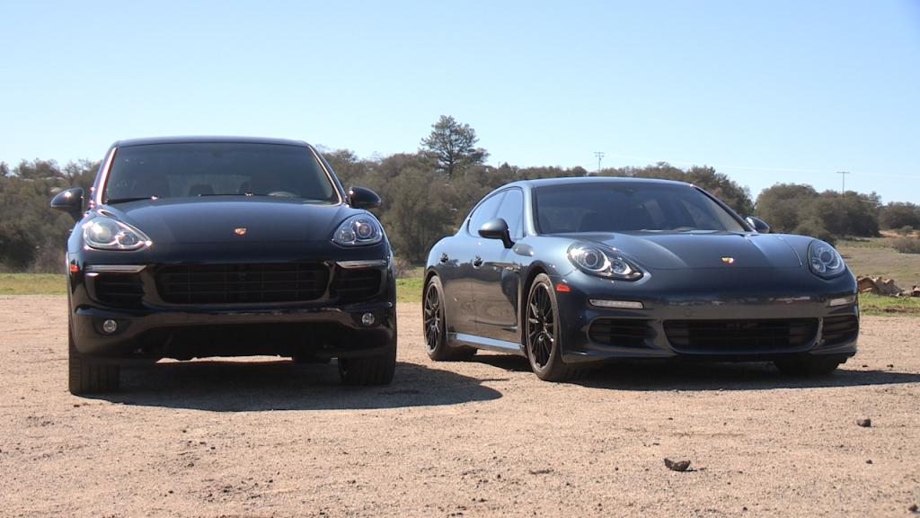 Porsche Panamera turbo (2010) и Porsche Cayenne (2011)