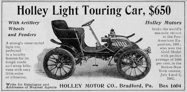 Реклама автомобиля Holley Motorette, 1902