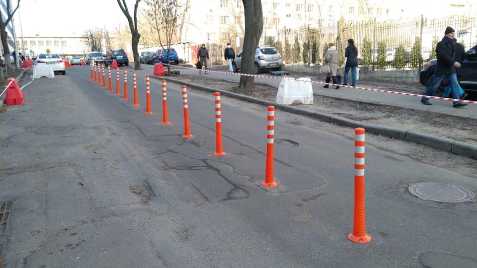 203 дорожных вехи были установлены от улицы Вадима Гетьмана до улицы Янгеля