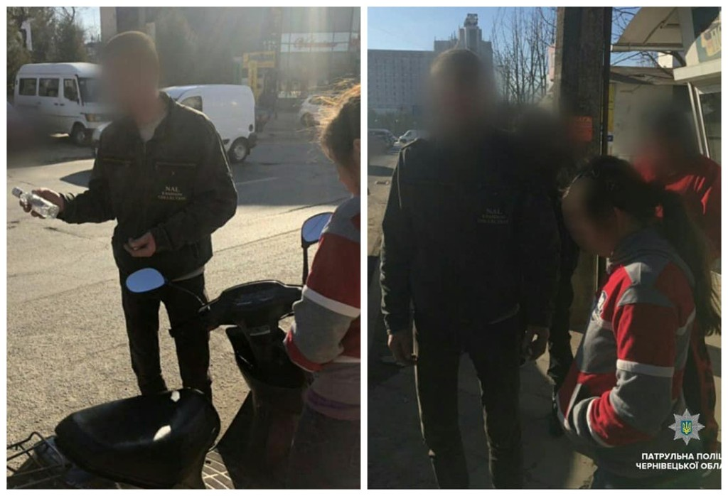 Пьяный водитель управлял мотороллером без шлема