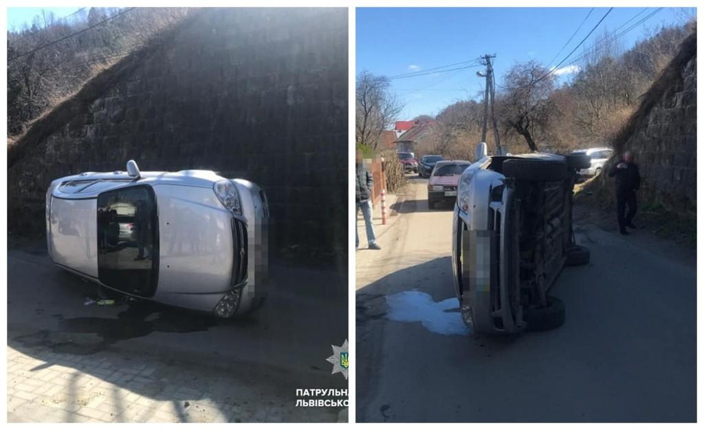 Пьяный водитель перевернулся на автомобиле Chevrolet Lacetti
