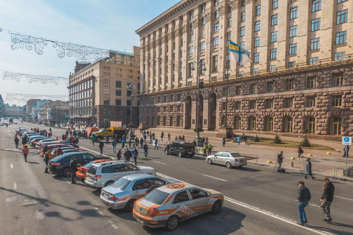 Все происходило в самом центре Киева, на улице Крещатик