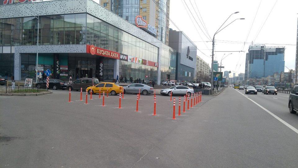 Делиниаторы установили на пересечении улицы Богдана Гаврилишина и проспекта Победы