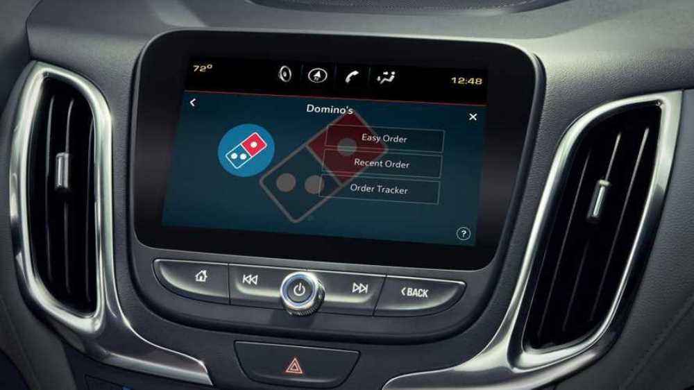 Автомобильное приложение Dominos