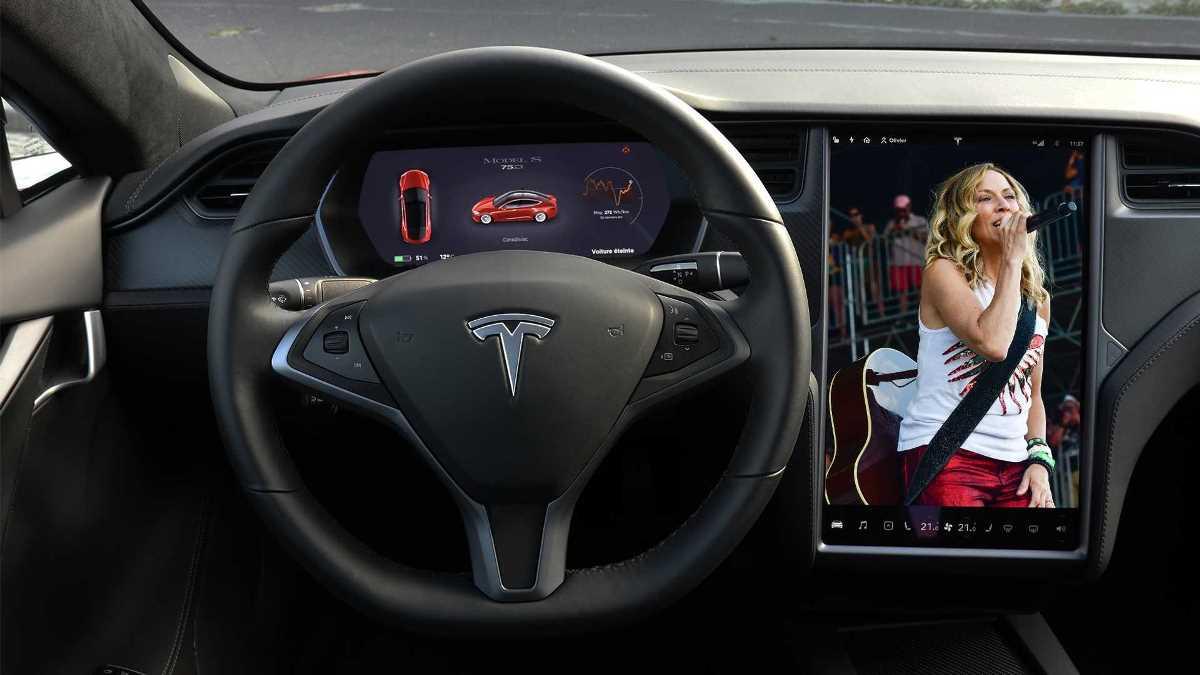 Шерил Кроу и электрокар Tesla