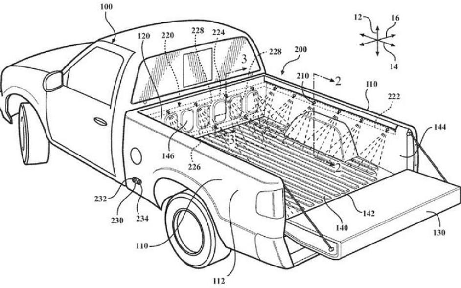 Toyota запатентовала встроенную мойку для кузова пикапа