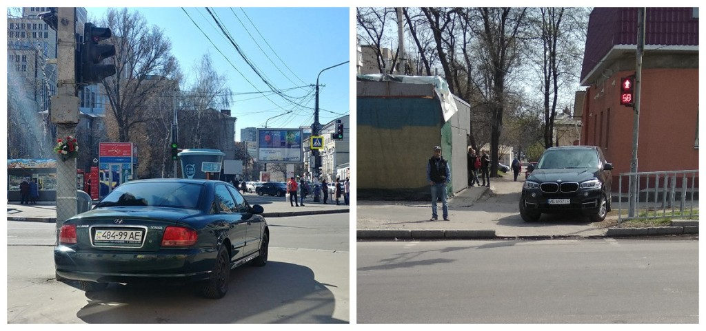 "Парковка на тротуаре напротив ""зебры"""