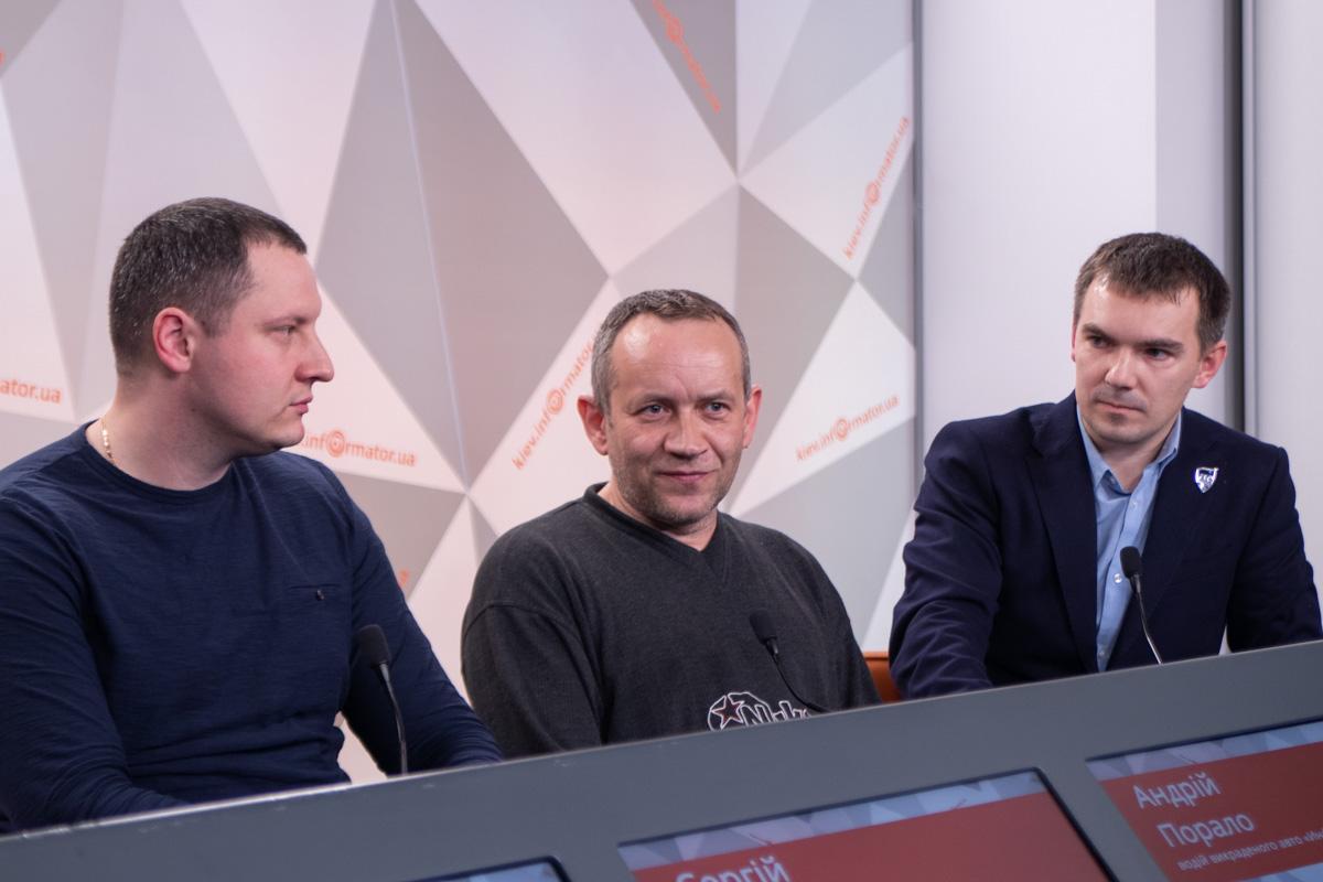 В пресс конференции принял участие водитель и администратор Информатора, а также юрист Виталий Собкович