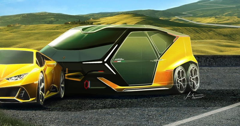 Lamborghini предложило владельцам Huracan вместительный прицеп