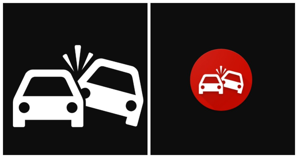 Графические объекты для функции определения автокатастроф