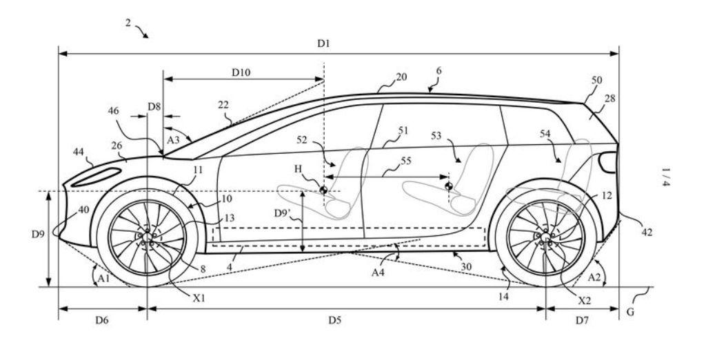 Патент на кузов электромобиля Dyson
