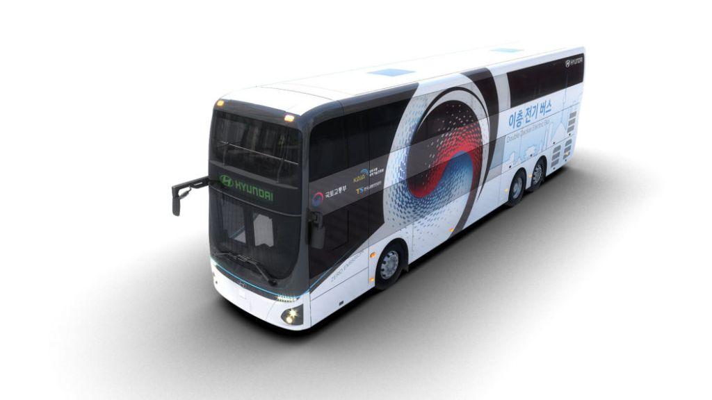 Hyundai представил двухэтажный полностью электрический автобус