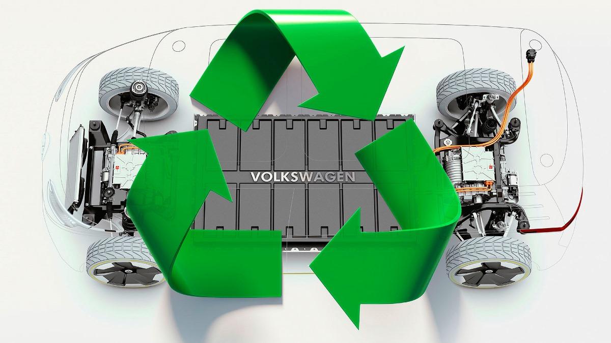 Volkswagen будет перерабатывать литий-ионные батареи