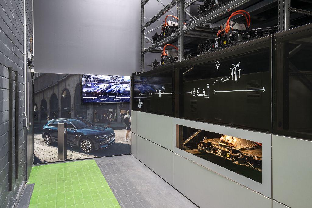 Audi открыла многоцелевую систему хранения отработанных литий-ионных батарей