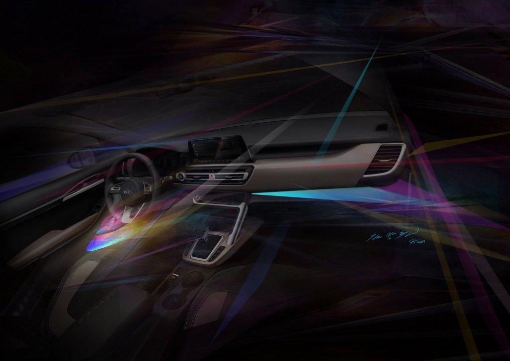 Первое официальное изображение салона нового SUV KIA