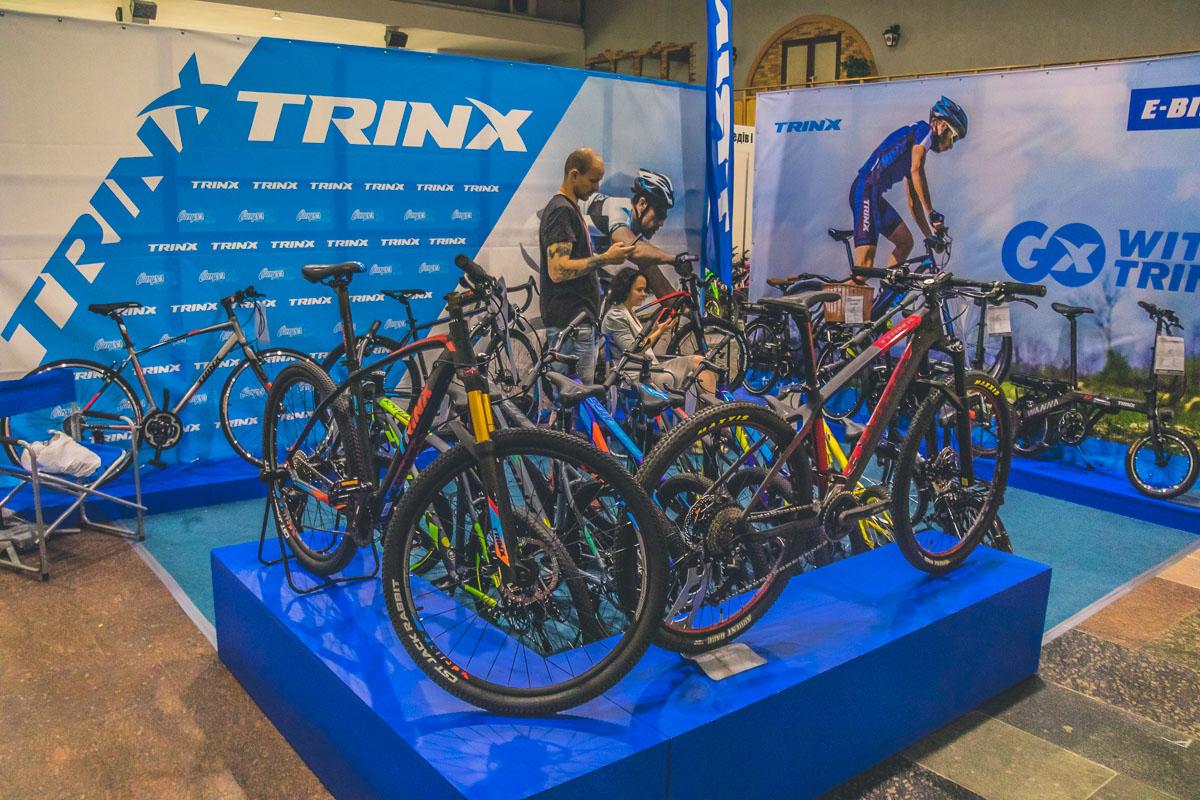 На выставке также представили различные велосипеды