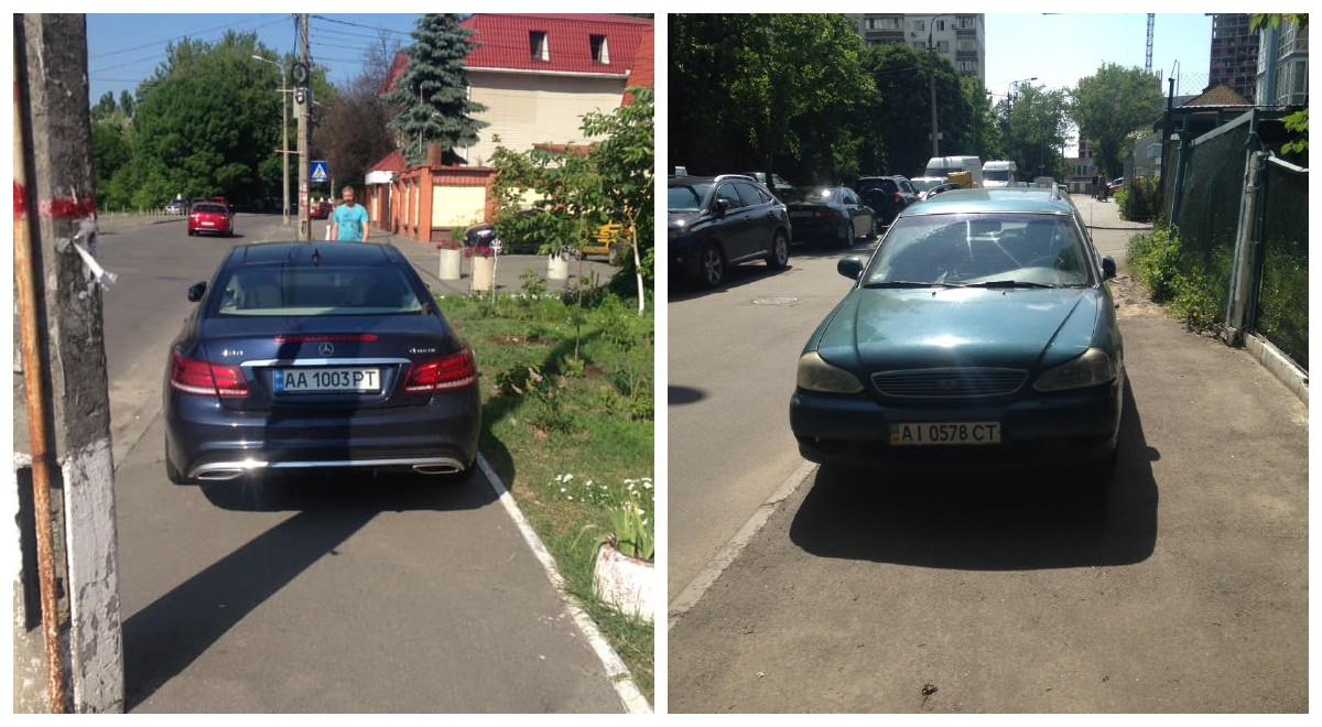 Парковка на тротуаре обойдется водителям в 255 гривен