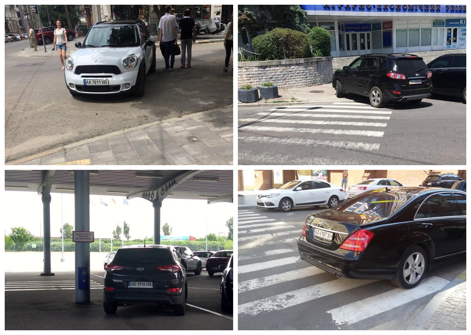 Парковка на переходе
