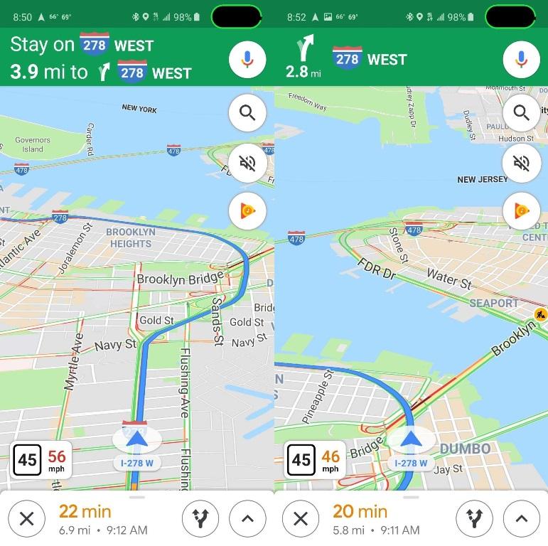 В Google Maps появился спидометр