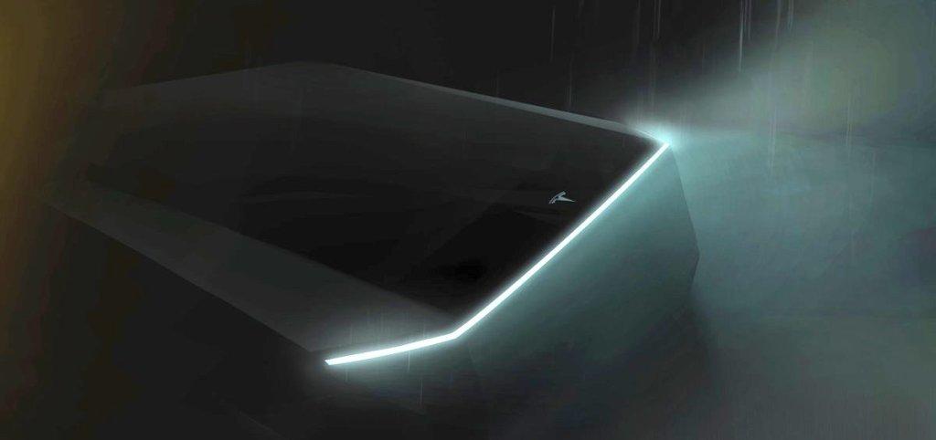Тизерное изображение электропикапа Tesla